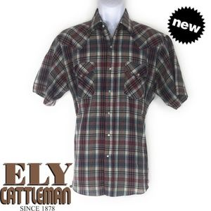 🌟   ELY CATTLEMAN Checkered Polo